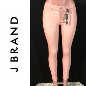 NWT J BRAND Lamb Leather Ankle Zip Skinny Jeans